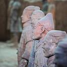 closeup of a look around terracotta warriors