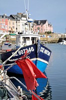 Fishing boat in Douarnenez, Brittany, France.