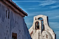 Emblematic whitewashed architecture in Marvao, Alentejo, Portalegre, Portugal.