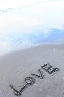 Love Writing On The Beach