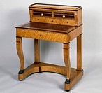 Restoration style (Charles X) bonheur du jour (ladies writing desk) in tap maple, 1825. France, 19th century.  Private Collection
