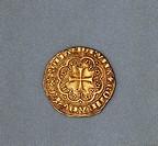 Gold genovino, second type, the Doge Simon Boccanegra (1339-1344), reverse. Republic of Genoa, 14th century.  Padova, Musei Civici Eremitani, Palazzo ...