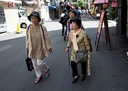 Aging in Japan.