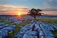 Sunset at Winskill Stones.