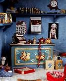 Pet shop, miniature shop, 20th century.