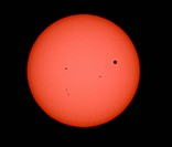 Transit of Venus across the Sun, June 5, 2012; viewed from Kitt Peak in Tuscon, Arizona.
