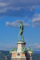 Florence, Statue of David by Michelangelo, Michelangelo square, Tuscany, Italy, Europe