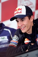 Marc Marquez during a press conference