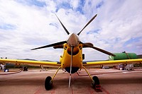Firefighting plane at the air base in Siete Aguas, Valencia, Spain