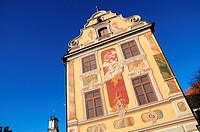 The Baroque facade of the Steuerhaus (tax house) in Memmingen, Germany