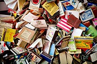 Lots of boxes of vintage matches
