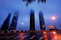 Four towers business area in Castellana street, Madrid, Spain.
