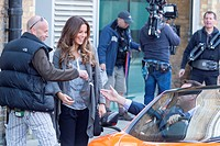 Kate Beckinsale, Terry Jones and Rob Riggle film scenes for 'Absolutely Anything' in Central London Featuring: Kate Beckinsale Where: London, United K...