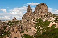 The Castle Rock of Uchisar, Cappadocia, central Anatolia, Turkey