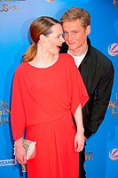 Karoline Herfurth and Matthias Schweighoefer at the premiere Das magische Haus at Cinemaxx Potsdamer Platz. Where: Berlin, Germany When: 11 May 2014 C...