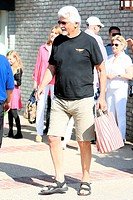 Barbra Streisand and James Brolin seen at Joel Silvers Memorial Day party in Malibu. Featuring: James Brolin Where: Los Angeles, California, United St...