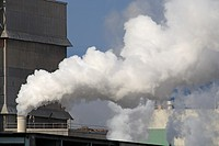 Emissions coming from the now defunct Eurocan Pulp and Paper mill, Kitimat, British Columbia.