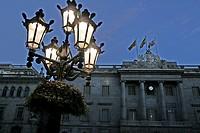 Streetlight, Town Hall, Plaça Sant Jaume, Barcelona, Catalonia, Spain