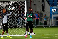 2014 FIFA World Cup - Ghana training at Estadio das Dunas ahead of their game against USA Featuring: Stephen Adams Where: Natal, RN, Brazil When: 15 J...