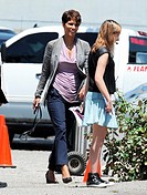 Actress Halle Berry spotted on the set of her sci-fi series \Extant\ filming in Culver City Ca. Featuring: Halle Berry Where: Culver City, California,...