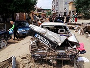 Homes are destroyed during heavy floods in Varna, Bulgaria. Heavy rain in Bulgaria's Black Sea city of Varna on Thursday afternoon flooded the town, 1...