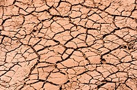 Cracked dry soil in desert background