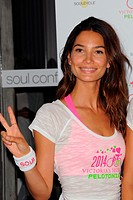 Victoria's Secret Angels attend a photocall at Soul Cycle Featuring: Lily Aldridge Where: New York City, New York, United States When: 09 Jul 2014 Cre...