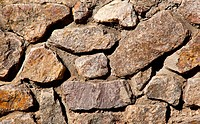 Brown and yellow irregular stone wall background