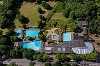 Revierpark Vonderort with saltwater pool and spa in Oberhausen in North Rhine - Westphalia. - Oberhausen, Nordrhein-Westfalen, Germany, 05/05/2014