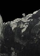 'Le Gardien du Créneau', 1915. by Georges Bertin Scott' world war one