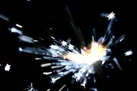 holiday stars sparkler abstract macro close up