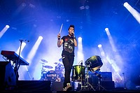 Bastille performing live at Somerset House in London Featuring: Bastille Where: London, United Kingdom When: 15 Jul 2014 Credit: Carsten Windhorst/WEN...