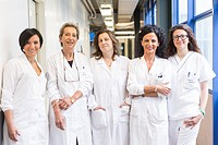 Medical Staff in white coats. Modena (Italy), May 2014.