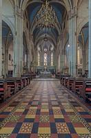 Ornate cathedral tile, pillars and decor, Zagreb, Zagreb, Croatia