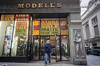 The Grand Central location of the sporting goods chain, Modell´s is seen in New York. The store has been at the location for 25 years and has lost its...
