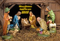 christmas crib with holy family