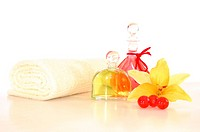 spa or wellness still life isoalted on white background