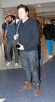 Josh McDermitt, star of The Walking Dead, departs Los Angeles International Airport (LAX) Featuring: Josh McDermitt Where: Los Angeles, California, Un...