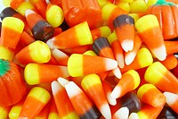 Various Mixed Candy Pile on Whole Background