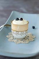Lemon cream with blueberries