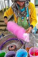 Candy floss at a market in Thailand