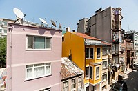 old style building in Istanbul,Pera.