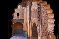 Madrassa Ali Ben Youssef , Marrakech, UNESCO World Heritage Site, Ali Ben Youssef Medersa , Morocco, Maghreb, North Africa.