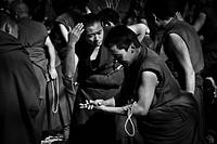 Sera Monastery Debating Monks Lhasa Tibet