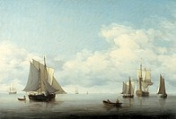 'Seascape with shipping', 1743-1759. Artist: Charles Brooking