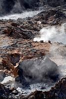 Boiling Mud Pots, La Soufriere Drive-In Volcano, St. Lucia, West Indies