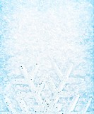 Christmas background, snowflake border, cold white blue snow pattern, winter holidays greeting card