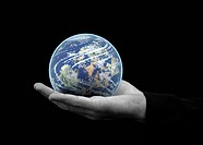 Holding the world in the palm of hand