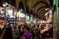 Eminonu Misir Carsisi Spice Market interior.