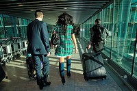 Tulisa Contostavlos flys out of London to Glasgow for a concert wearing a tartan dress. Featuring: Tulisa Contostavlos Where: London, United Kingdom W...